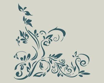 Floral pattern. Stencil floral pattern. (Ref 387) adhesive vinyl stencil