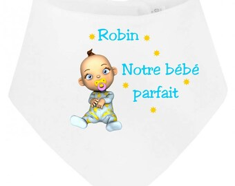 Our baby bandana baby bib perfect personalized with name