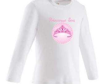 baby Princess Crown personalized with name t-shirt
