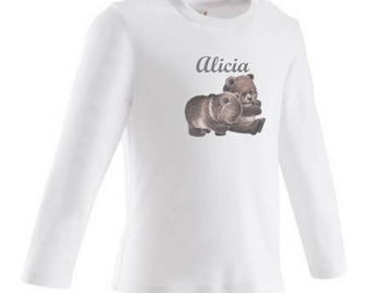 baby bears personalized with name t-shirt