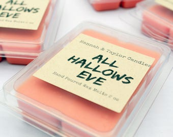 All Hallows Eve Wax Melt | Handmade Wax Tart | Candy Jar Scented Wax Tart | Fall Scented Candle | Halloween Soy Wax Melt
