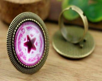 20mm: 1 ring adjustable bronze ring 20mm round