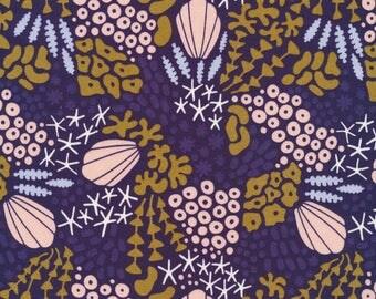 Fabric organic · Cotton Poplin. Lagoon and coral. Certified GOTS · 20 cm
