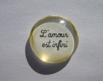 """Cabochon 20 mm with its """"infinite love"""""""