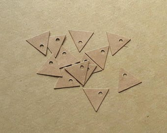 Set of 100 mini triangular tags in kraft paper, tags triangles to indicate price, 2cm