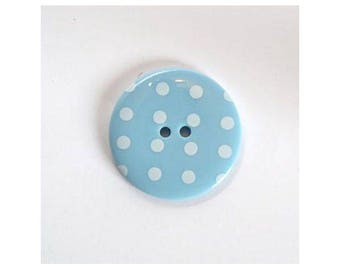 Big buttons 34mm blue - 001124 polka