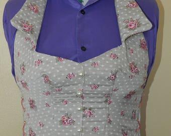 woman floral Halter vest