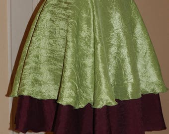 Skirt color Burgundy pistachio