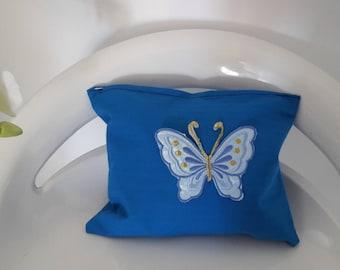 "Blue ""Butterfly"" makeup case"