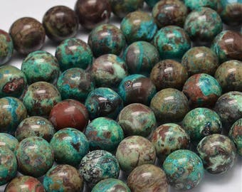 10 ocean round 10 mm agate beads