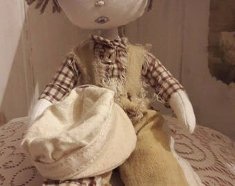 Doll shabby little newsboy