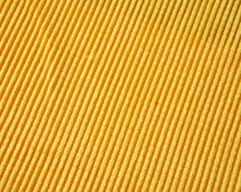 """Quilted effect"" yellow ribbed Velvet fabrics"