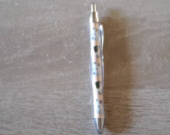 Blue ink ballpoint pen