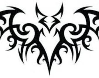 Tribal Bat decal