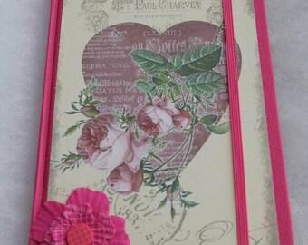 Bullet journal notebook, pink