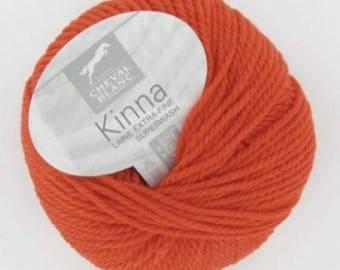 thread 100% wool knitting KINNA Persian color No. 040 white horse