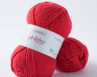 CHARLY de coquelicot color PHILDAR Knitting yarn