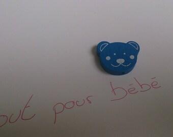 Pearl dark blue bear