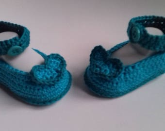 ballerina cotton Emerald and turquoise