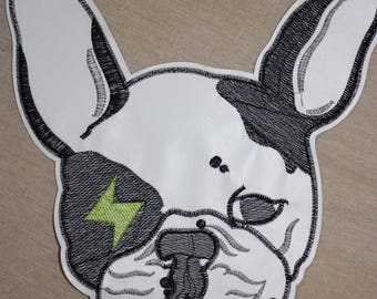 1 badge Bulldog Dog lightning