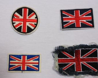 1 English flag patch