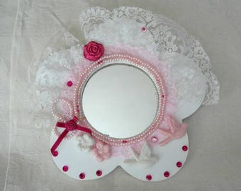 A SMALL MIRROR SHABBY STYLE