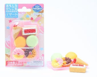 Assortment of 6 Classic bakery + 1 top erasers