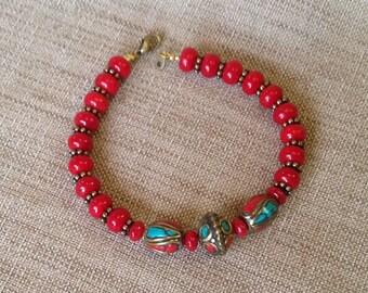 Bracelet beads from Tibet.