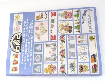1 booklet DMC embroidery for babies and children