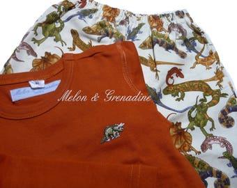 Pajama boy fancy geckos lizards - 2 years