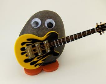Flaming Yellow Electric Guitar
