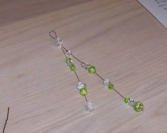 Back jewel necklace wedding necklace ceremony, cheap back jewel, jewel emerald green back