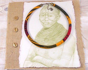 African Wax fabric Choker necklace