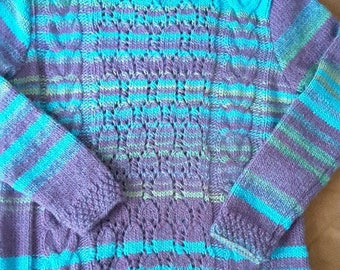 TURQUOISE knit SWEATER wool