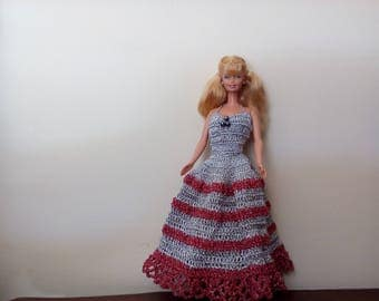 Long dress for barbie doll