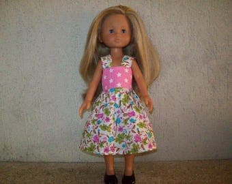 compatible with the girls etoilespour 32 33 cm dolls, and printed cotton dress