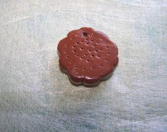 biscuit chocolate vanilla round flower shape