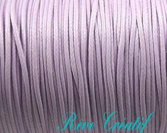Korean Wax Polyester Cord, Lavender, 0.5mm