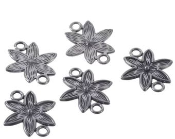 5 connector 16x18mm flower large jewelry