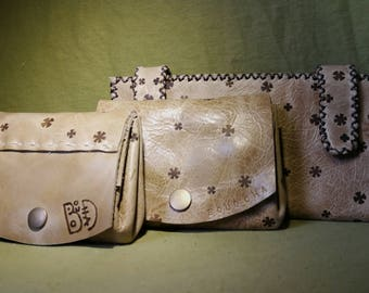 set worn wallet leather