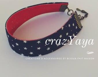 Fabric reversible bracelet