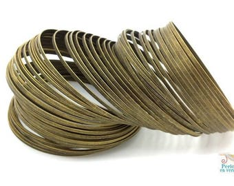 10 turns of memory wire flat, steel, diameter 5.8 cm bronze (FIL120) bracelet