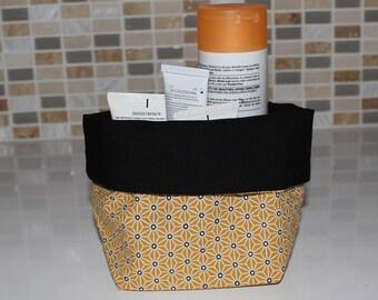 Basket of bath - reversible - geometric pattern