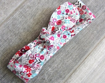 "Headband tie ""flower meadow"""