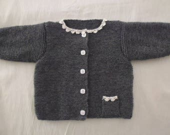 Grey granite 3 months baby Cardigan