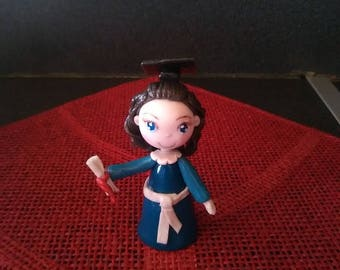 Decorative figurine: Christelle just got her degree in cold porcelain.