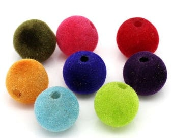 30 mixed beads spacer acrylic velvet 14mm round