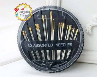 A box of 30 different size needles