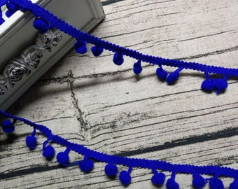 2 x ribbons/trims blue tassels 34 meters