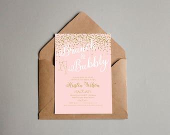 Brunch & Bubbly bridal shower invitation (customized/digital)